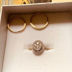 Jewelry - 👑1.50 kt 14k yellow and white gold wedding set❤️